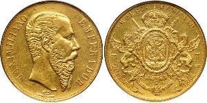20 Peso Second Mexican Empire (1864 - 1867) Gold Maximilian I of Mexico (1832 - 1867)