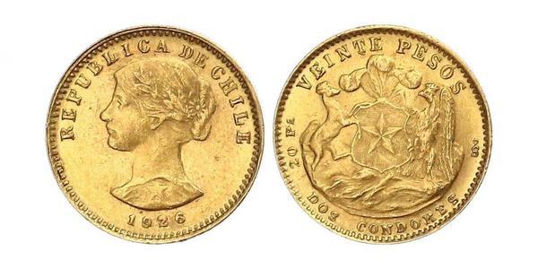 20 Peso Chile Oro