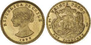 20 Peso Cile Oro