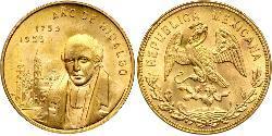 20 Peso México (1867 - ) Oro Miguel Hidalgo