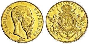 20 Peso Segundo Imperio Mexicano (1864 - 1867) Oro Maximilian I of Mexico (1832 - 1867)