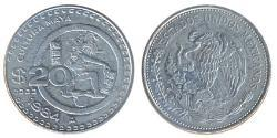 20 Peso United Mexican States (1867 - )
