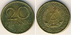 20 Pfennig German Democratic Republic (1949-1990) Brass