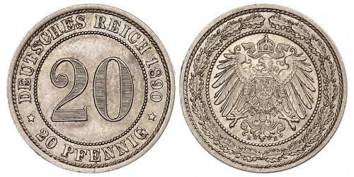 20 Pfennig 德意志帝國 (1871 - 1918)