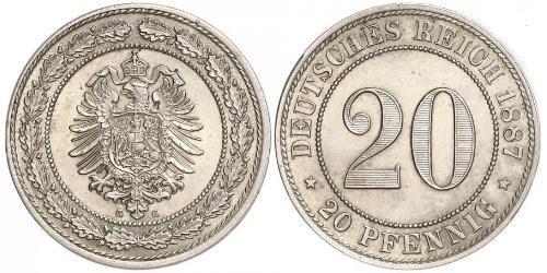 20 Pfennig Empire allemand (1871-1918)