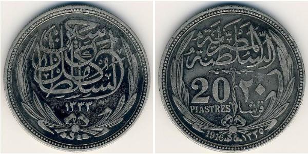 20 Piastre Sultanat d