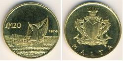 20 Pound Malta Gold