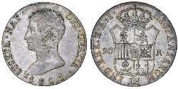 20 Real Kingdom of Spain (1808 - 1813) Argento Giuseppe Bonaparte