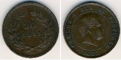 20 Reis Kingdom of Portugal (1139-1910) Bronze  Karl I. von Portugal (1863-1908)