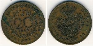 20 Reis Azores / Kingdom of Portugal (1139-1910) Copper