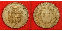 20 Reis Kingdom of Portugal (1139-1910) Copper Maria II of Portugal (1819-1853)