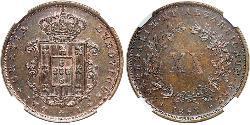 20 Reis Kingdom of Portugal (1139-1910) Copper Luís I of Portugal (1838 - 1889)