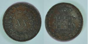 20 Reis Royaume de Portugal (1139-1910) Cuivre Louis Ier de Portugal (1838 - 1889)