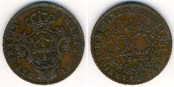 20 Reis Kingdom of Portugal (1139-1910) / Azoren Kupfer