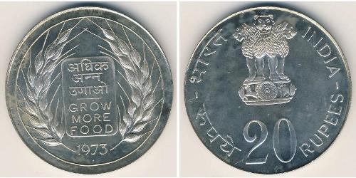 20 Rupee Indien (1950 - ) Silber