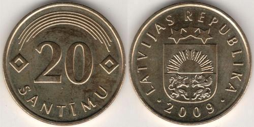 20 Santims Латвія (1991 - )