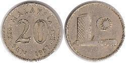 20 Sen Malaysia (1957 - ) Copper/Nickel