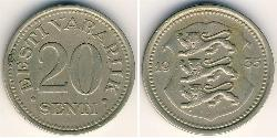 20 Sent Estonia (1991 - ) Copper/Nickel