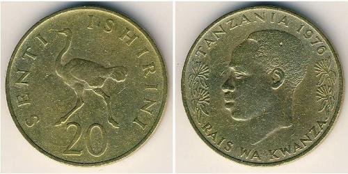 20 Sent Tanzanie Laiton