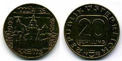 20 Shilling Republic of Austria (1955 - ) Copper/Aluminium/Nickel