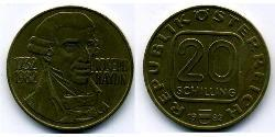 20 Shilling Republic of Austria (1955 - ) Copper/Aluminium/Nickel