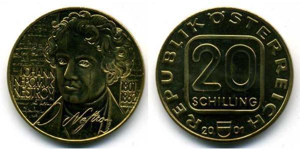20 Shilling Geschichte Österreichs (1918-1934) Kupfer/Aluminium/Nickel