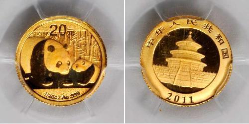 20 Yuan República Popular China Oro