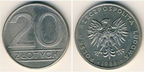 20 Zloty Repubblica Popolare di Polonia (1952-1990) Rame/Nichel
