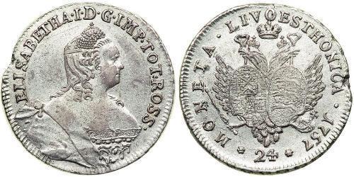 24 Kopeck Empire russe (1720-1917) Argent Ielizaveta I Petrovna  (1709-1762)