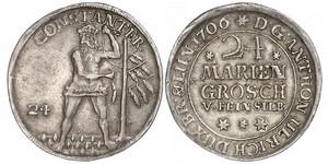24 Mariengroschen States of Germany Plata