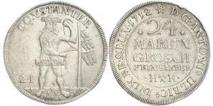 24 Mariengroschen States of Germany Silber