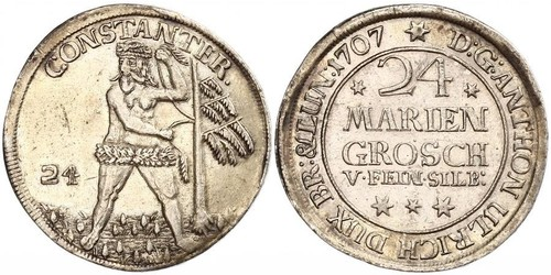 24 Mariengroschen States of Germany Silber