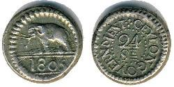 24 Stiver Sri Lanka/Ceylon Silver