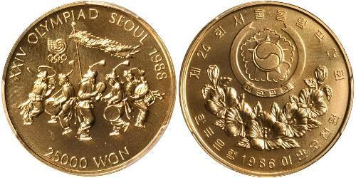 25000 Won South Korea Gold