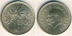 2500 Lira Turquía (1923 - )