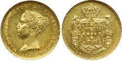2500 Reis Regno del Portogallo (1139-1910) Oro Maria II del Portogallo (1819-1853)
