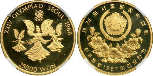 2500 Won Corée du Sud Or