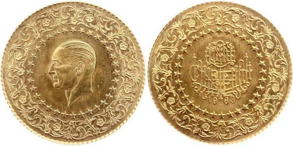 250 Пиастр Турция (1923 - ) Золото Mustafa Kemal Atatürk (1881-1938)