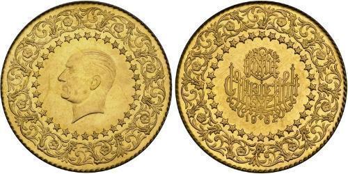 250 Піастр Турція (1923 - ) Золото Mustafa Kemal Atatürk (1881-1938)