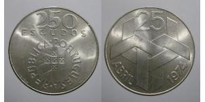 250 Эскудо Португальская Республика (1975 - ) Серебро