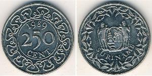 250 Cent Suriname Copper/Nickel