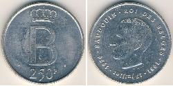 250 Franc Belgium Silver