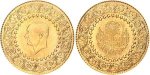 250 Piastre Turquie (1923 - ) Or Mustafa Kemal Atatürk (1881-1938)