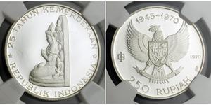 250 Rupiah Indonesia 銀