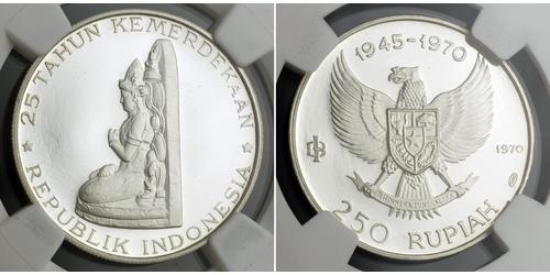 250 Rupiah Indonesia Silver