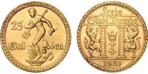 25 Гульден Gdansk (1920-1939) Золото