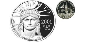 25 Доллар США (1776 - ) Платина