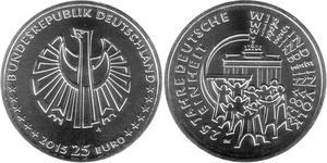 25 Евро Федеративная Республика Германия (1990 - ) Серебро