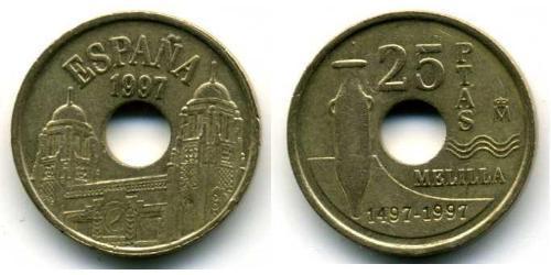 25 Песета Королівство Іспанія (1976 - ) Бронза/Алюміній