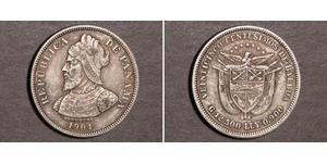 25 Сентесимо Республика Панама Серебро